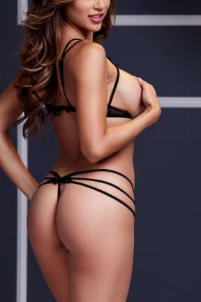 Dessous Strappy Open Bra & Panty Set O/S Black