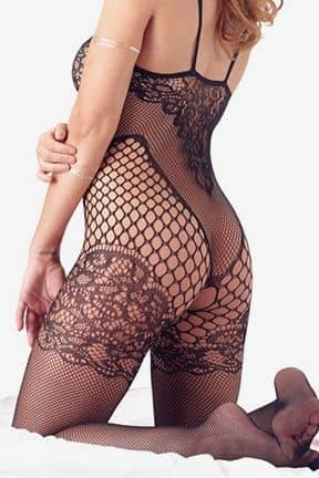 Dessous Catsuit with lace on chest S-L