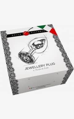 Analplugs Jewellery S Silver/Blue 3 cm
