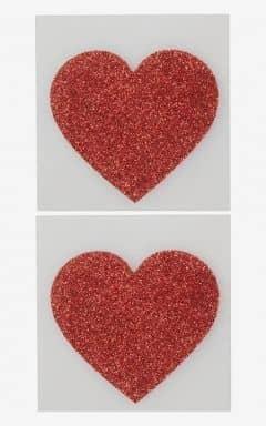Marken Nipple Sticker Heart Red