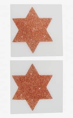 Körperschmuck Nipple Sticker Star Copper