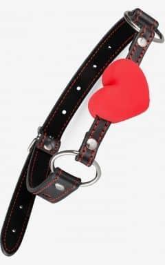 Gagballs Heart Ball Gag - Black/Red