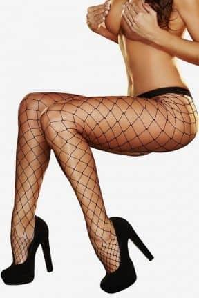 Dessous Lapdance - Big Net Pantyhose Black
