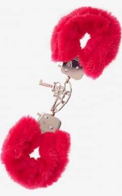 Pipedream Furry Love Cuffs - Röd